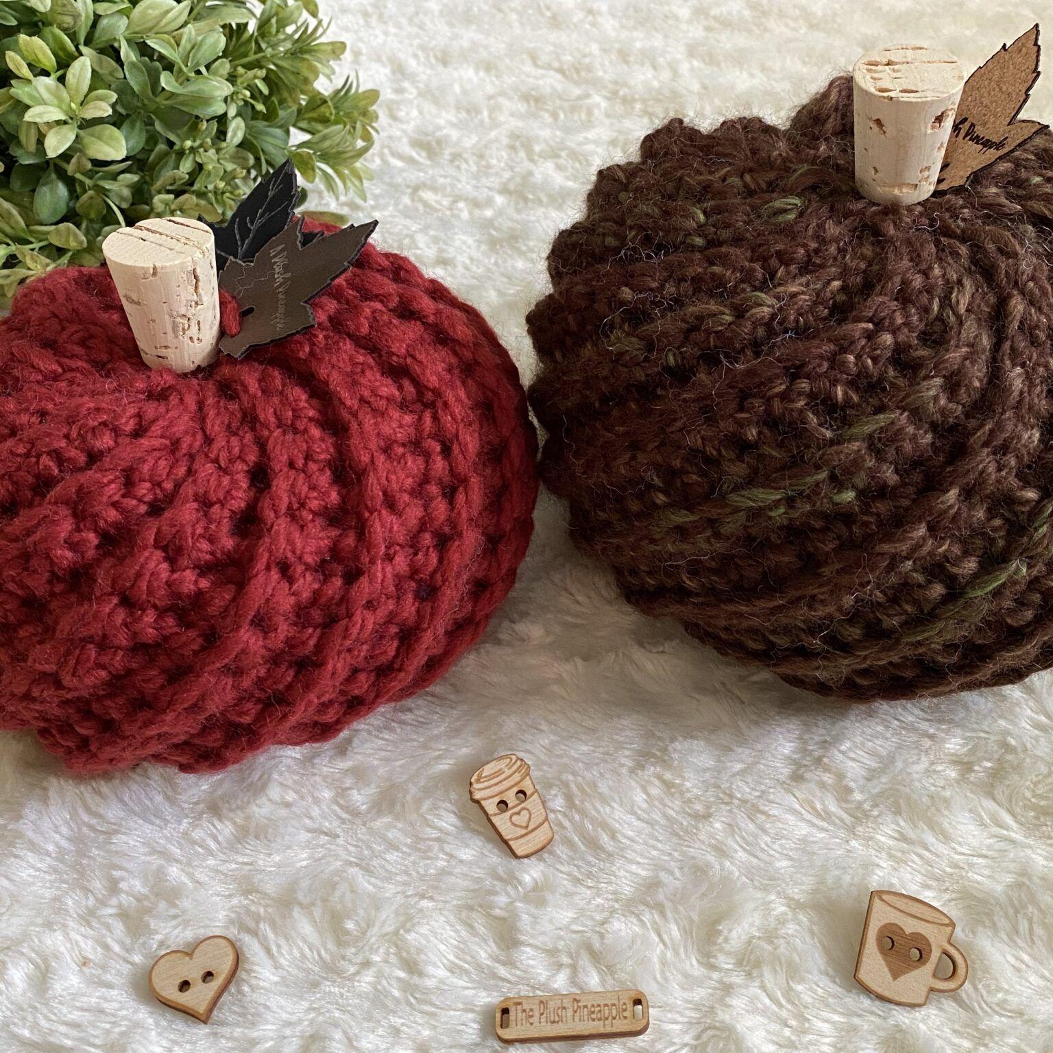 How To Crochet A Pumpkin Free Pattern A Plush Pineapple In 2020 Crochet Fall Halloween Crochet Crochet