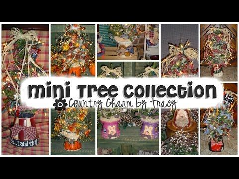 A Collection of Mini Lighted Trees by Tracy - YouTube