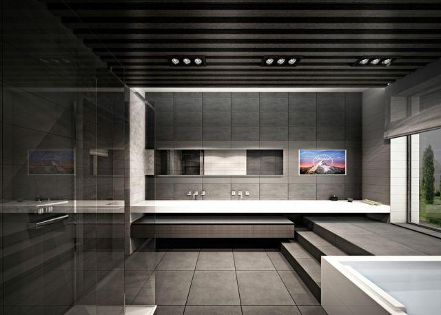 une salle de bain luxueuse et moderne avec un effet 3D | Dream ...
