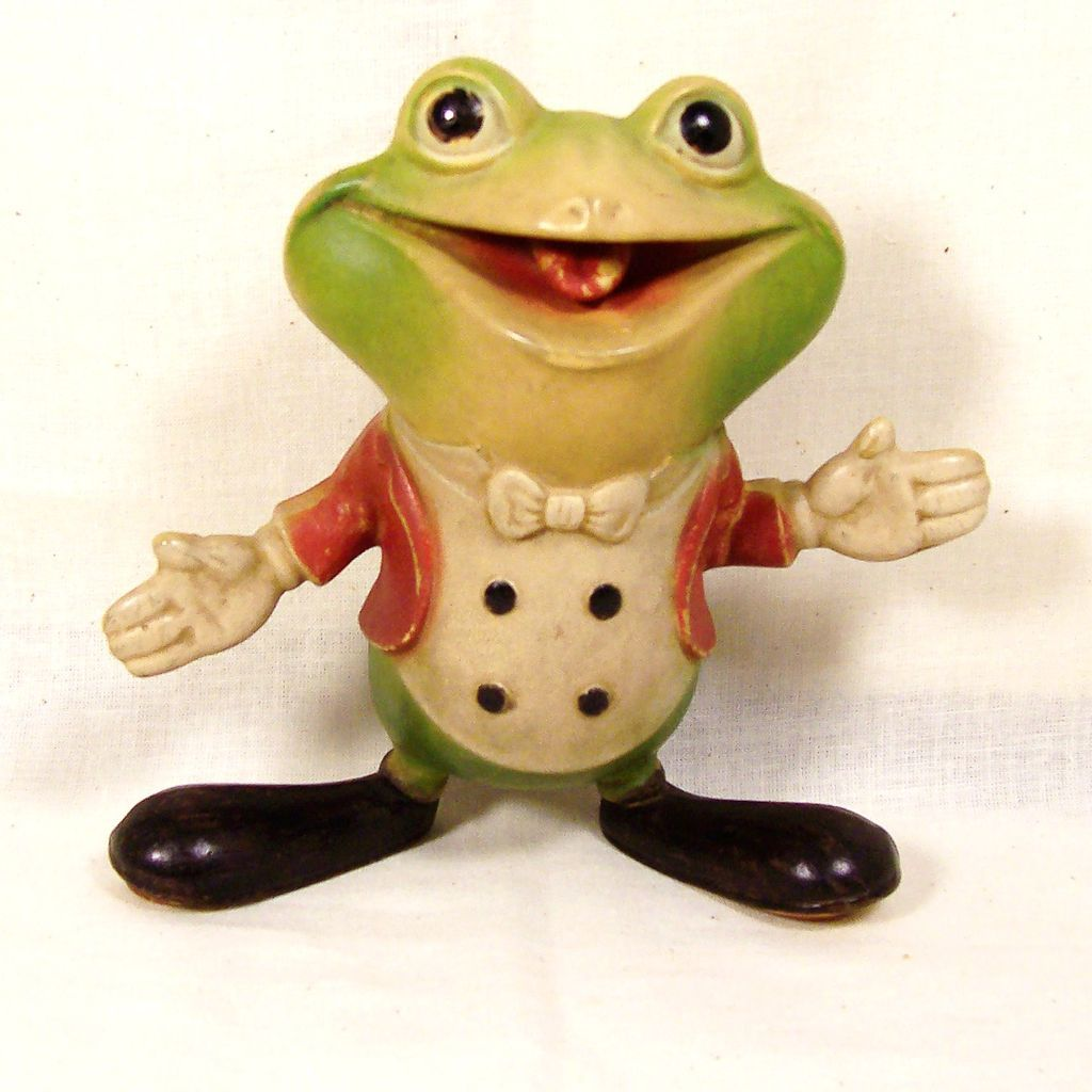 Vintage Rubber Frog Toy - Xxx Photo-9434