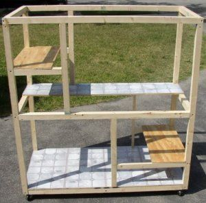 how to build a cat cage katzen spass pinterest katzen katzen spielplatz und katzen klo. Black Bedroom Furniture Sets. Home Design Ideas