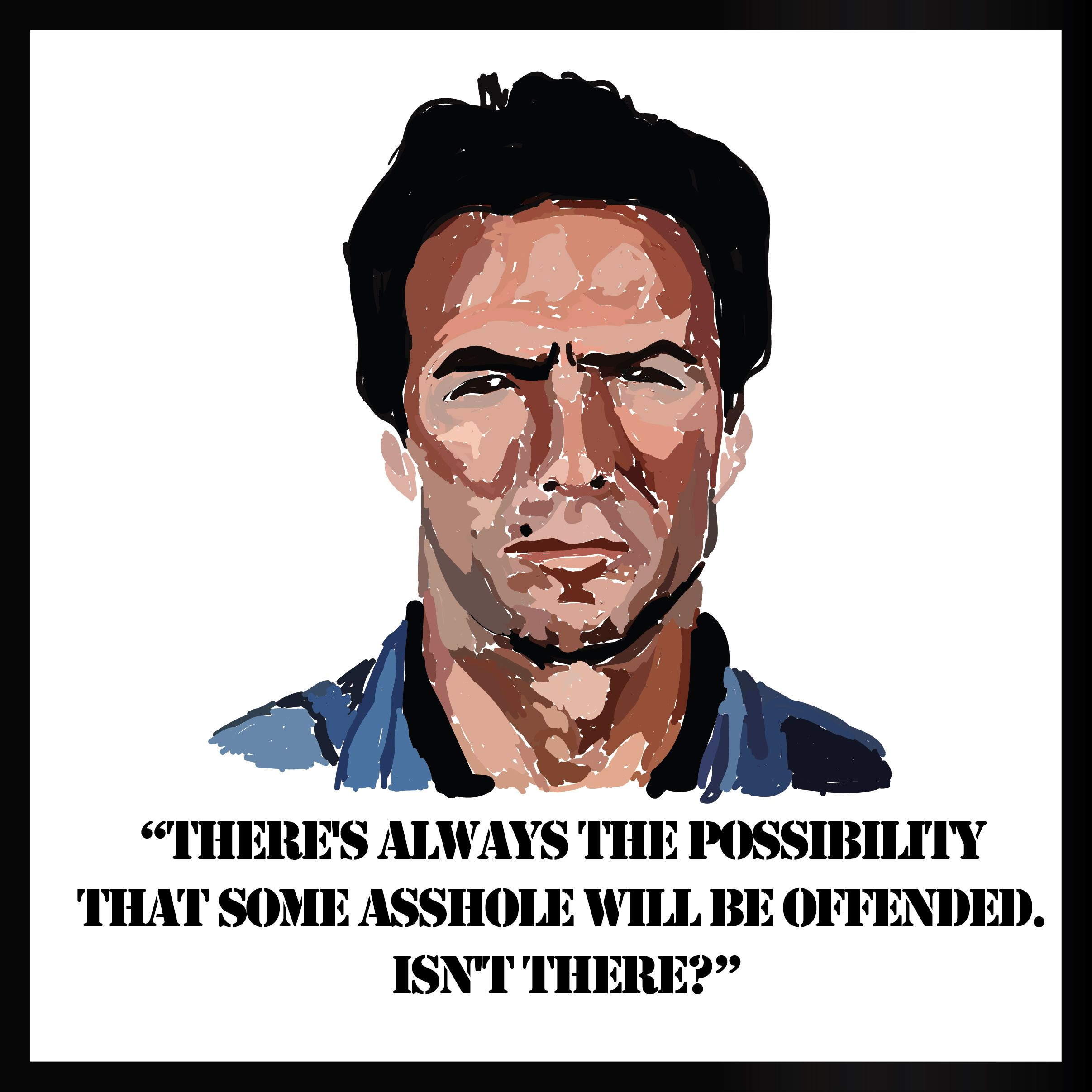 Made With Illustrator Clint Eastwood As Frank Morris In Escape