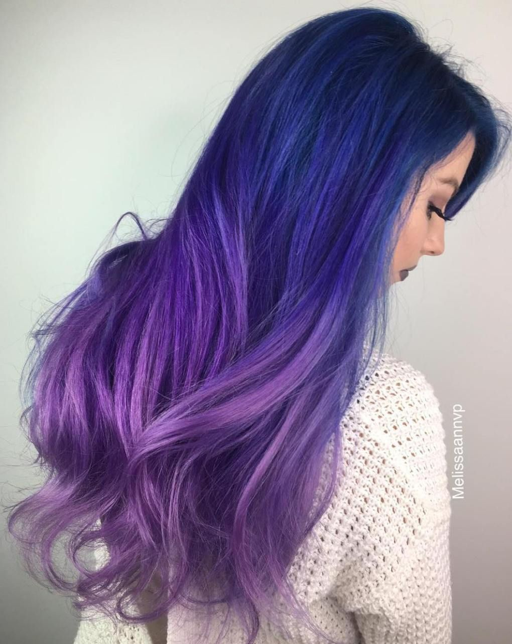 fairylike blue ombre hairstyles fun color ideas pinterest