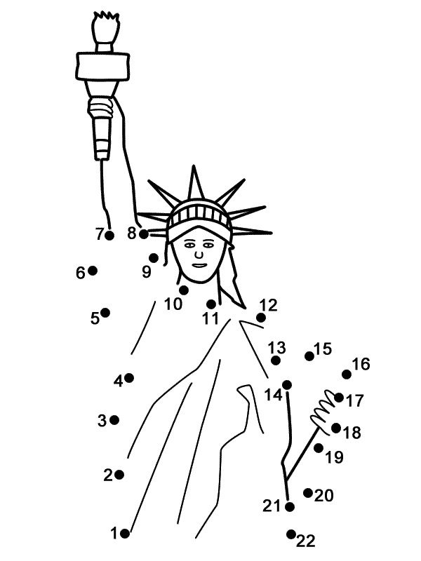 Statue of Liberty connect the dots pages...great for the