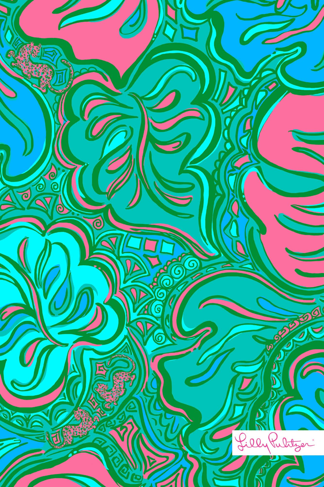 Lilly Pulitzer Lilly Lounge Mobile Wallpaper Iphone