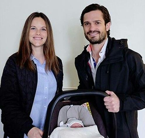 PRINCE CARL PHILIP, PRINCESS SOFIA AND SON ALEXANDER