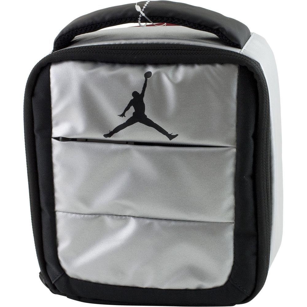 3a4469718388c5 Nike Air Jordan Jumpman Soft School Insulated Lunch Tote Bag Box Metallic  Silver  LunchBag