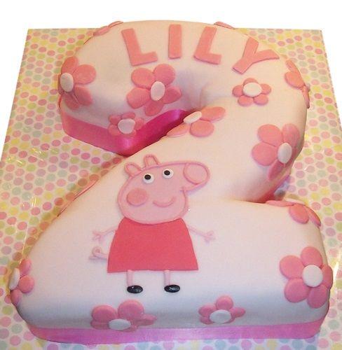 Peppa Pig Number Birthday Cake - Egg Free and Gluten Free sponge options | Kids Birthday Cakes | Peppa Pig Birthday Cakes | Caker Street #peppapig