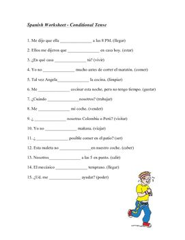 this 1 page worksheet focuses on the spanish conditional tense students are required to fill in. Black Bedroom Furniture Sets. Home Design Ideas