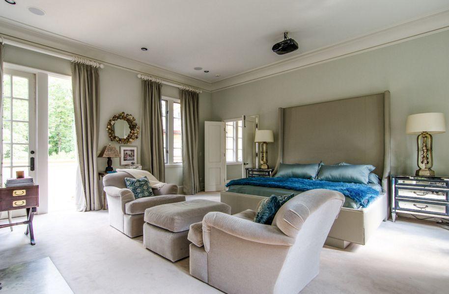 Mit Taupe ein stilvolles und romantisches Schlafzimmer ...