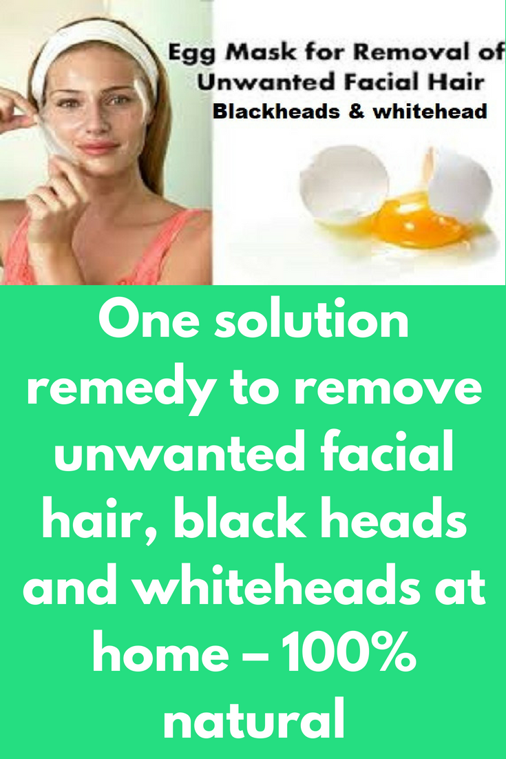 One solution remedy to remove unwanted facial hair black heads and
