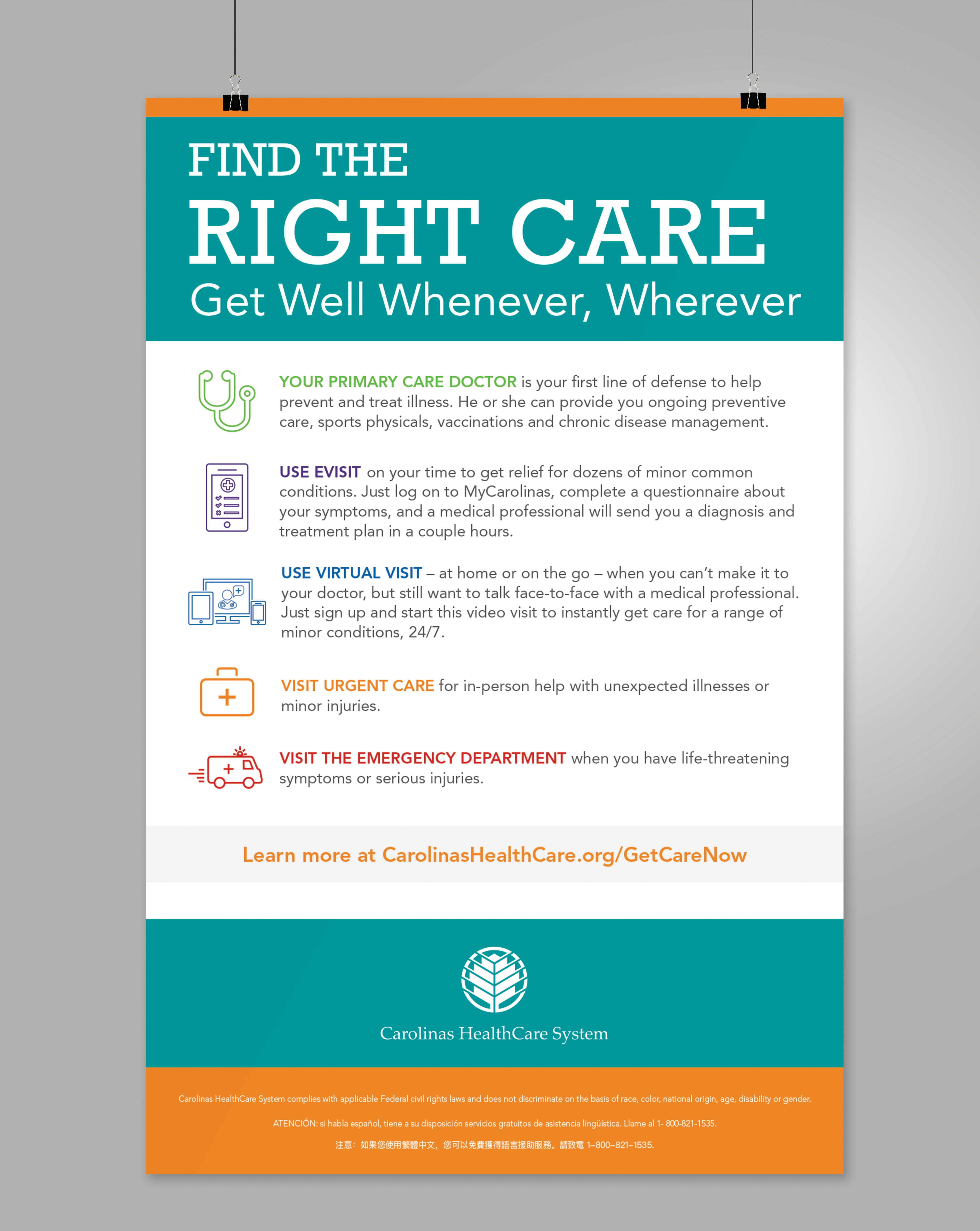 Get Care Now Carolinas Healthcare System Preventive Care Medical Services Chronic Disease Management