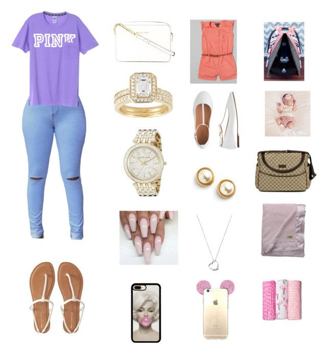 """""""Doctors with my girls 😍🏥"""" by manija-jones on Polyvore featuring Aéropostale, MICHAEL Michael Kors, Michael Kors, J.Crew, Kate Spade, Johnson's Baby, The First Years, Gucci and UGG Australia"""