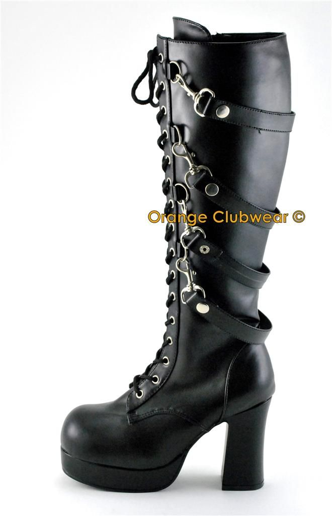 DEMONIA Pole Climber 10 Gothic Punk Womens Boots Shoes
