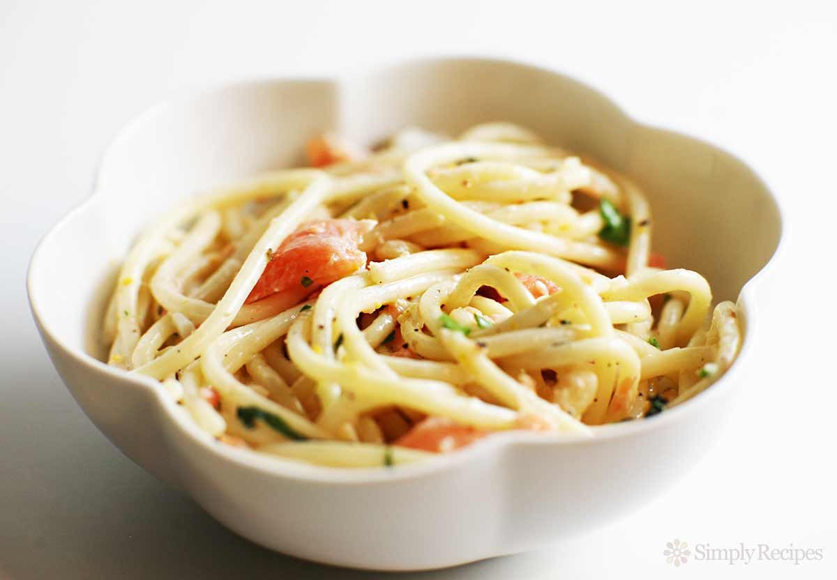 Smoked Salmon Pasta Recipe With Images Salmon Pasta Smoked Salmon Pasta Recipes Smoked Salmon Pasta