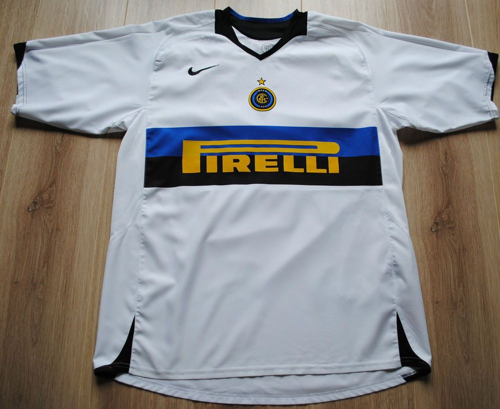 Inter Milan Football Shirt Adults Large Authentic Nike away kit 2005-2006  Italy a5500b07fe949