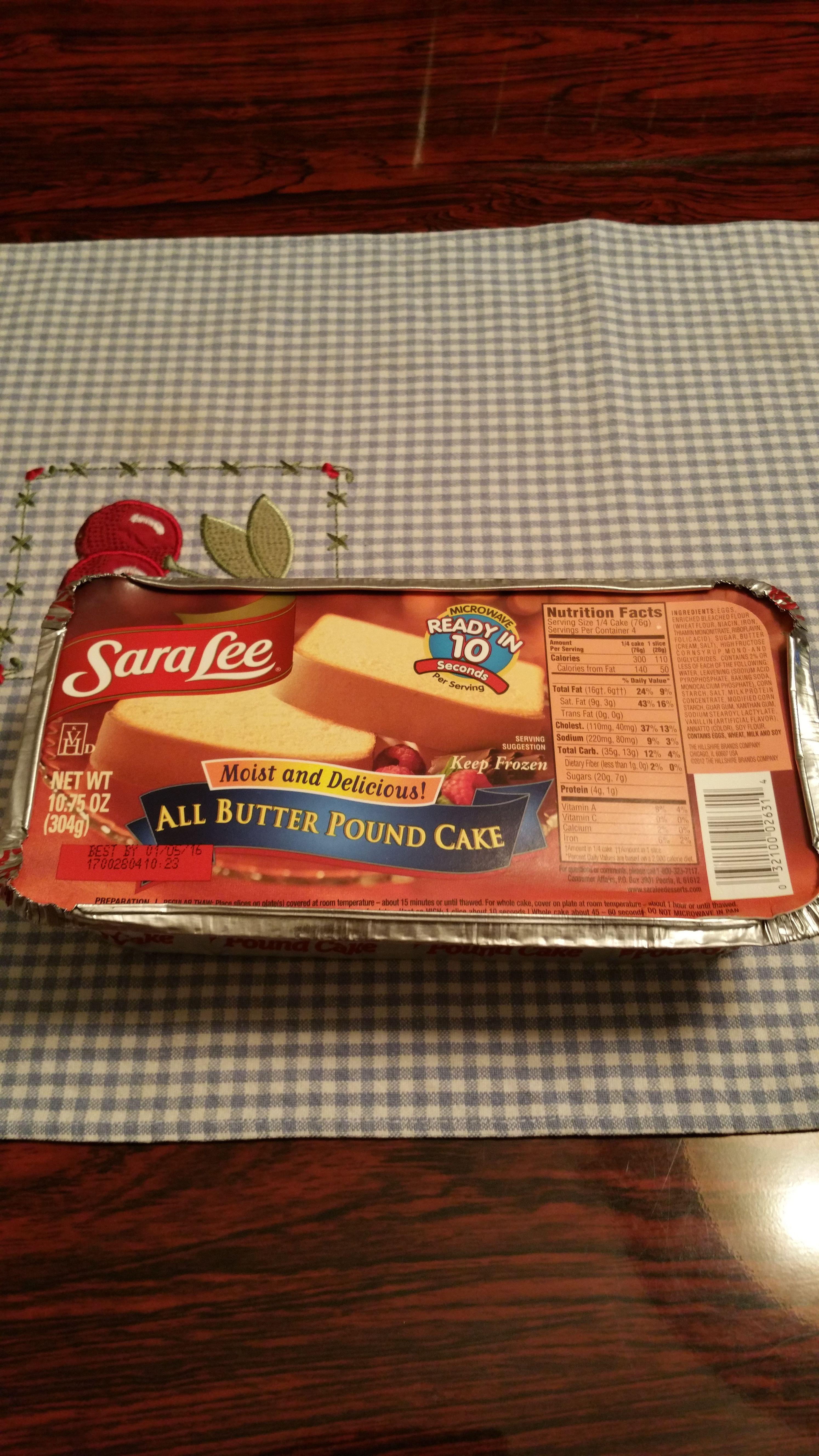 Gotitfree sara lee all butter pound cake butter pound