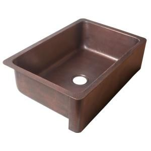 Delicieux ECOSINKS, Apron Front Dual Mount Hand Hammered Pure Copper 33x22x9 Single  Bowl Farmhouse Kitchen Sink