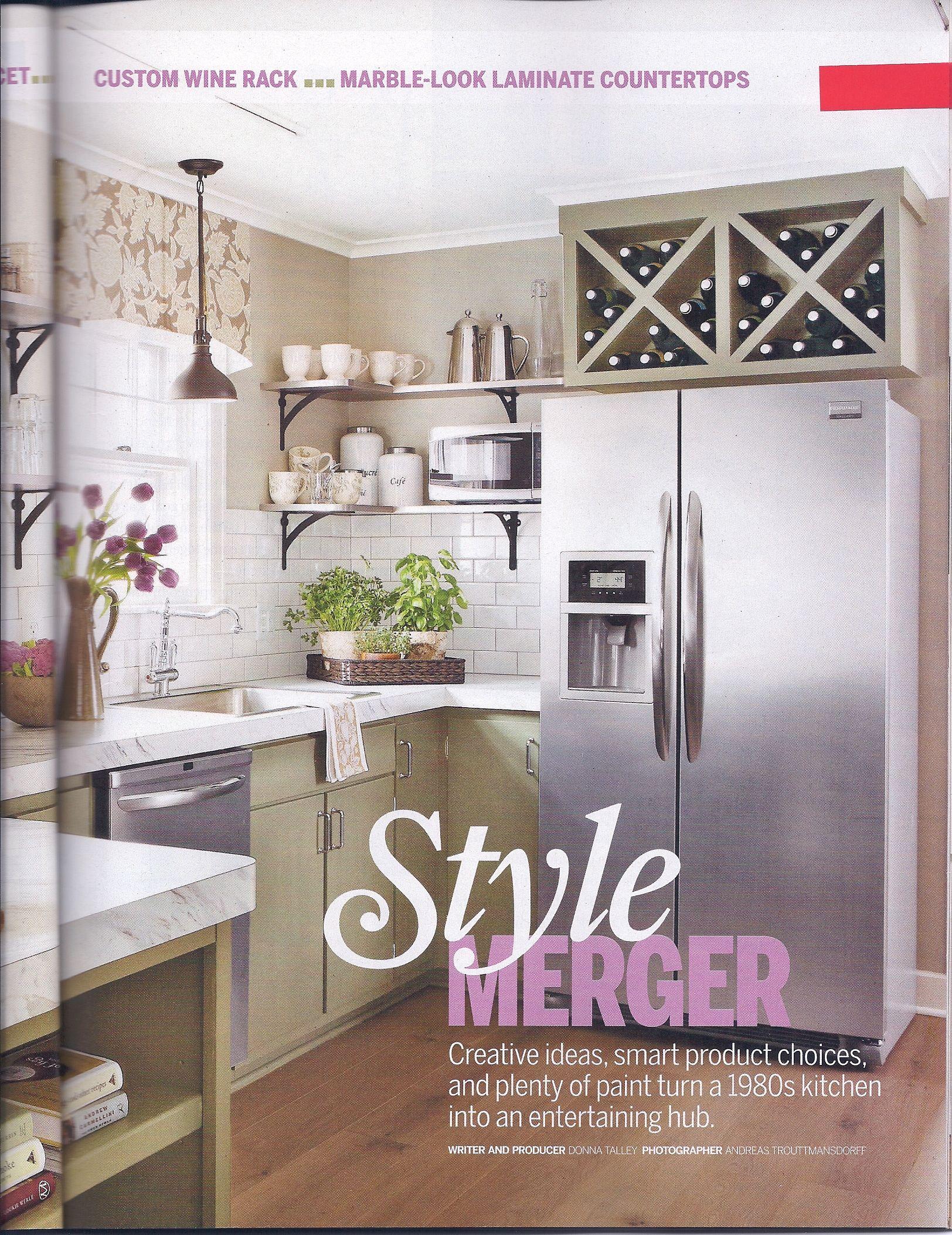 Wine rack over fridge