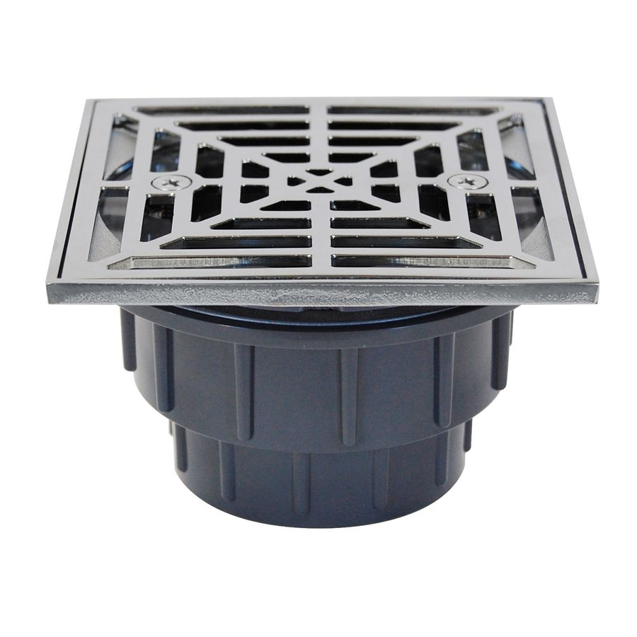 Sioux Chief 825 4 5 In Slotted Square Pvc Shower Drain Shower