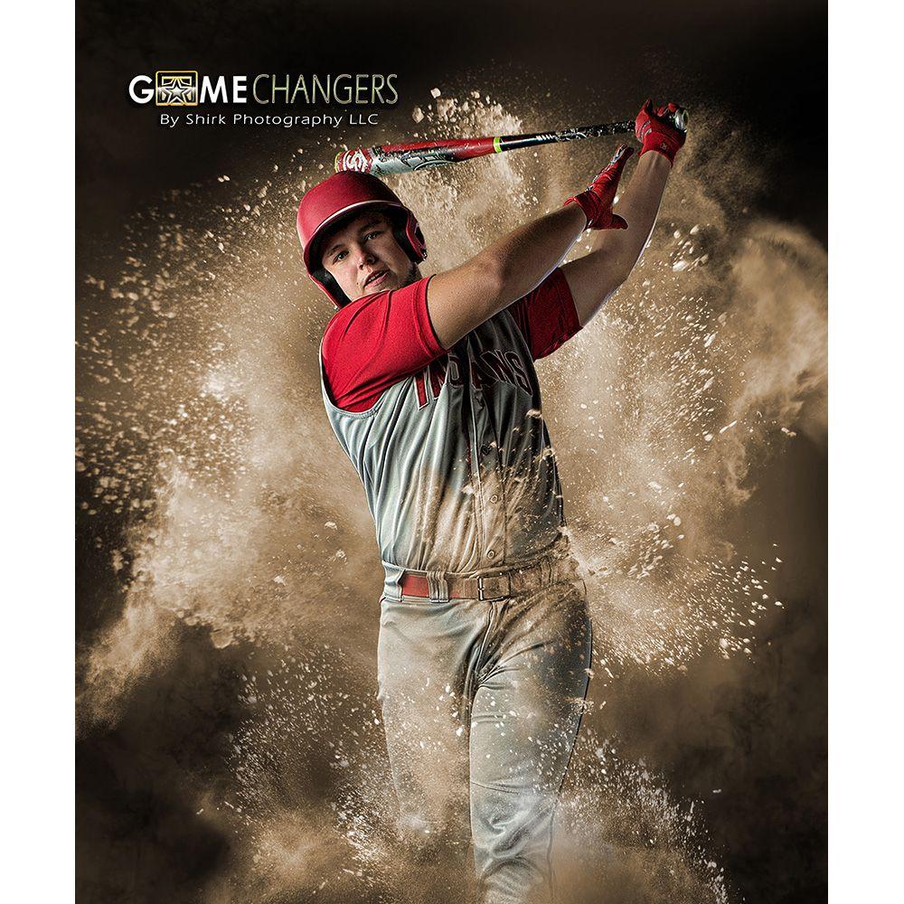 Powder Explosion Baseball Sports Photoshop Template Vertical Photoshop Template Photoshop Pics Photoshop Artwork