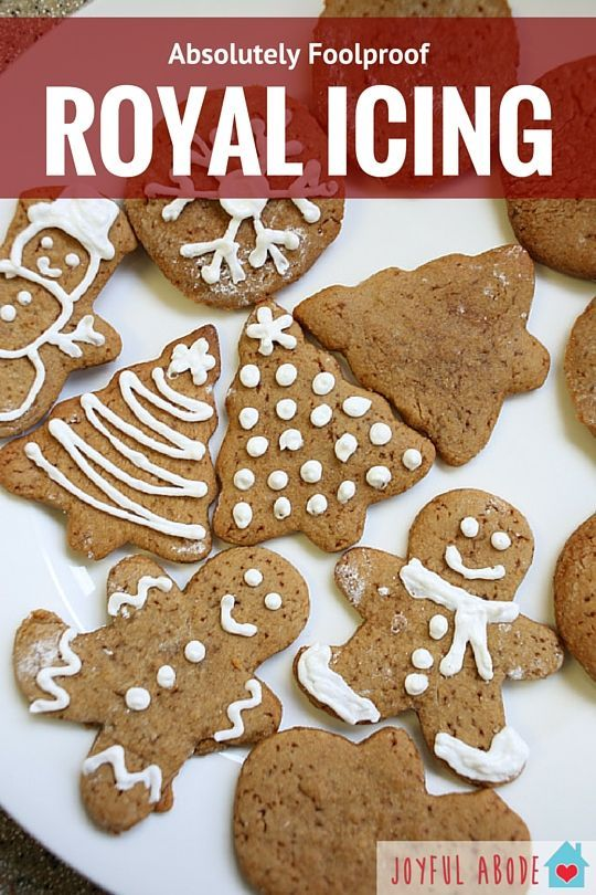 Royal Icing for Cookies - Foolproof #easyroyalicingrecipe Grain-free, Gluten-free, Paleo Royal Icing recipe. This is great for using on gingerbread cookies or other roll-out cut-out style cookies. It's so easy and makes the cookies extra special. #easyroyalicingrecipe