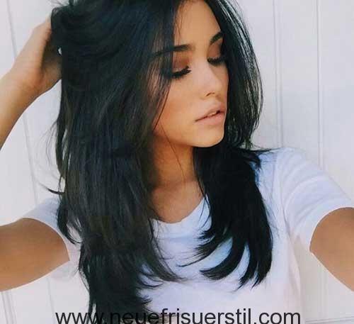 Frisuren dunkle lange haare