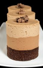 Triple Chocolate Mousse Cake I want all three!