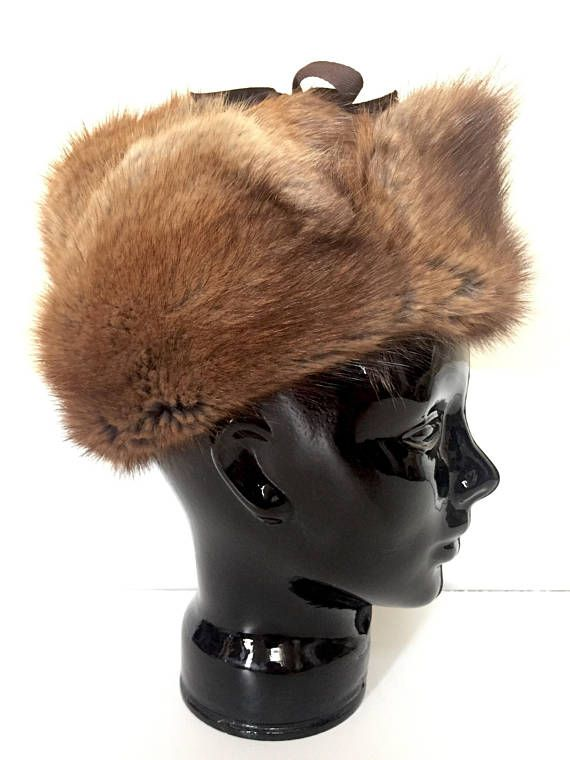 Real Fur Hat - Trapper Hat for Men or Women - Fur Winter Hat - Womens Hat  Women - Mens Hat Men - Fur 23cd0ad4a59e