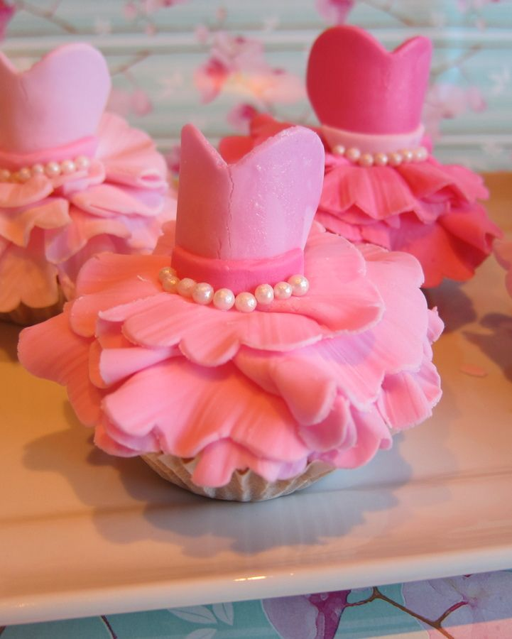 Ballet Dress Cupcakes — Birthday Cake Photos