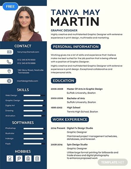 FREE Professional Resume/CV Template - Word (DOC) | PSD | InDesign | Apple (MAC) Pages | Illustrator | Publisher