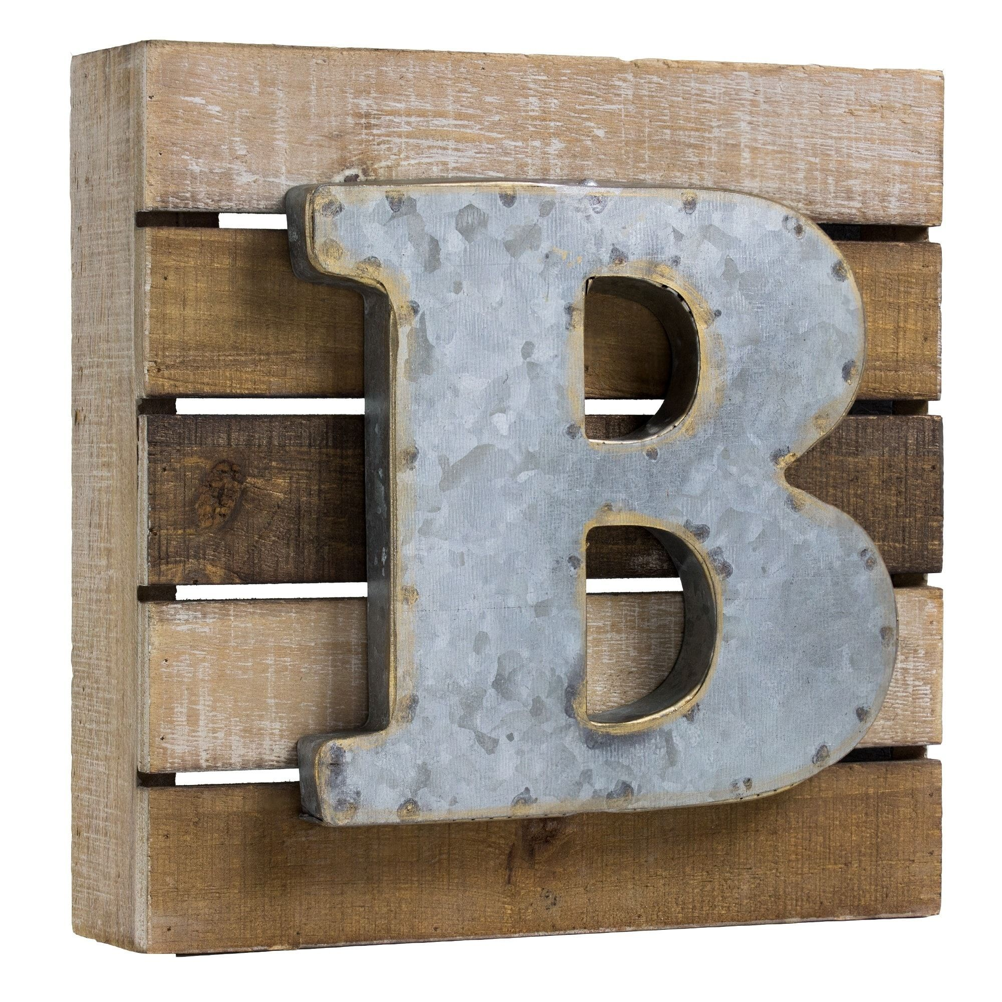 Rustic Letter Wall Decor Easy Craft Ideas