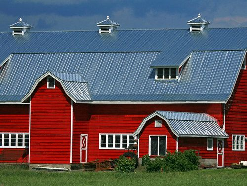 Red With Tin Roof Barn Tin Red Barn Red Barns