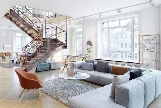 Déco salon moderne et chic: invitez la couleur grise!