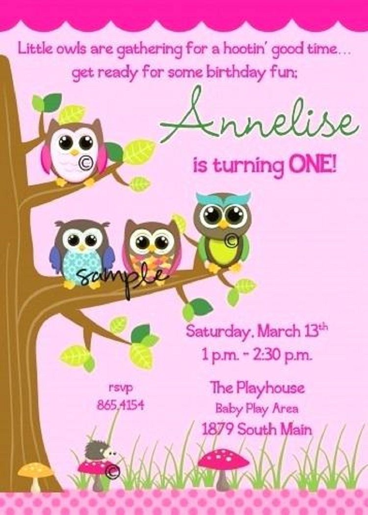 Owl birthday invitations template free invitation ideas owl birthday invitations template free filmwisefo