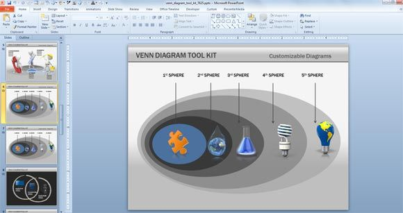 Awesome Venn Diagram Powerpoint Template For Presentations With
