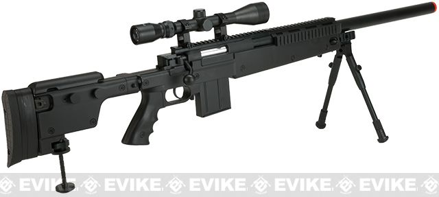 WELL MB4406D Bolt Action Airsoft Sniper Rifle - Black