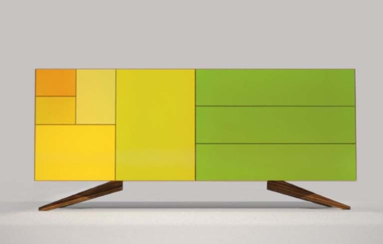 Dresser with green, yellow, and orange Multi color Marvelous Cupboard design, Minimalist