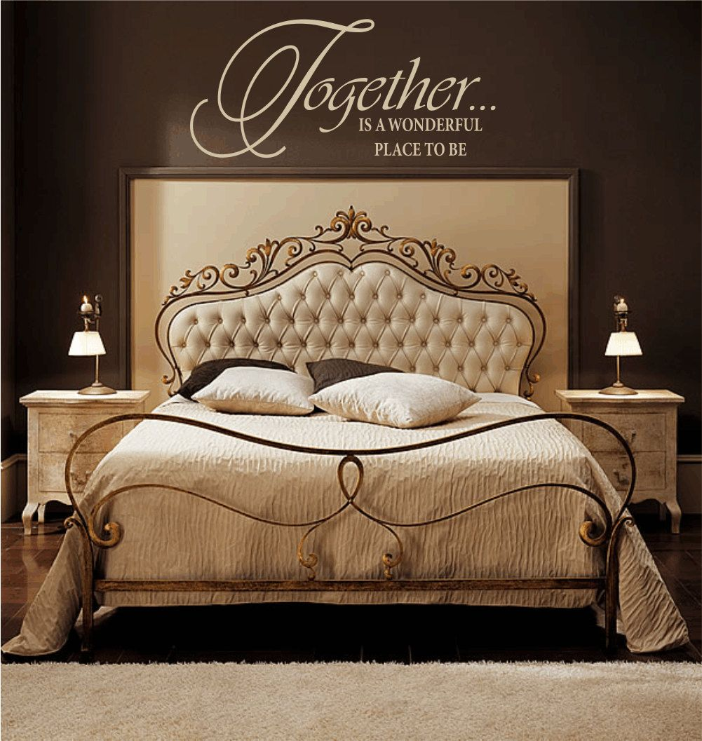 Together is a wonderful place to be vinyl wall decal wall for Bedroom vinyl quotes