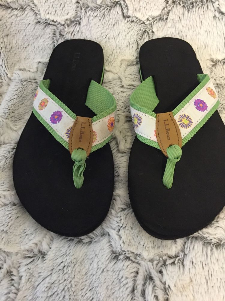 Ll Bean Women S Maine Isle Flip Flops Thong Style Sandals