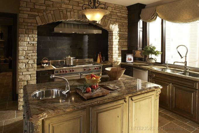 Medieval Interior Design Of A Kitchen Inspired From The Middle Period Of  European History.