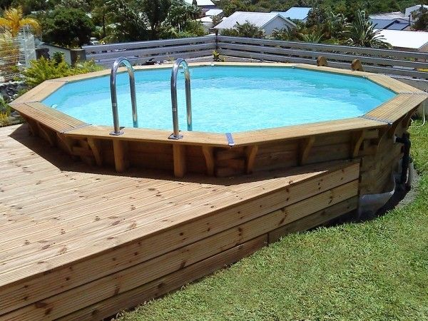 Piscine Maeva 400 Piscines Maeva Kits Piscines Bois Beautifulpool Amenagement Piscine Hors Sol Piscine Bois Piscine Bois Octogonale