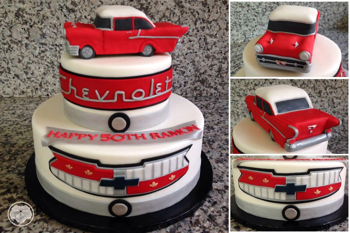 Chevy 57 cake dad birthday cakes 60th birthday cakes