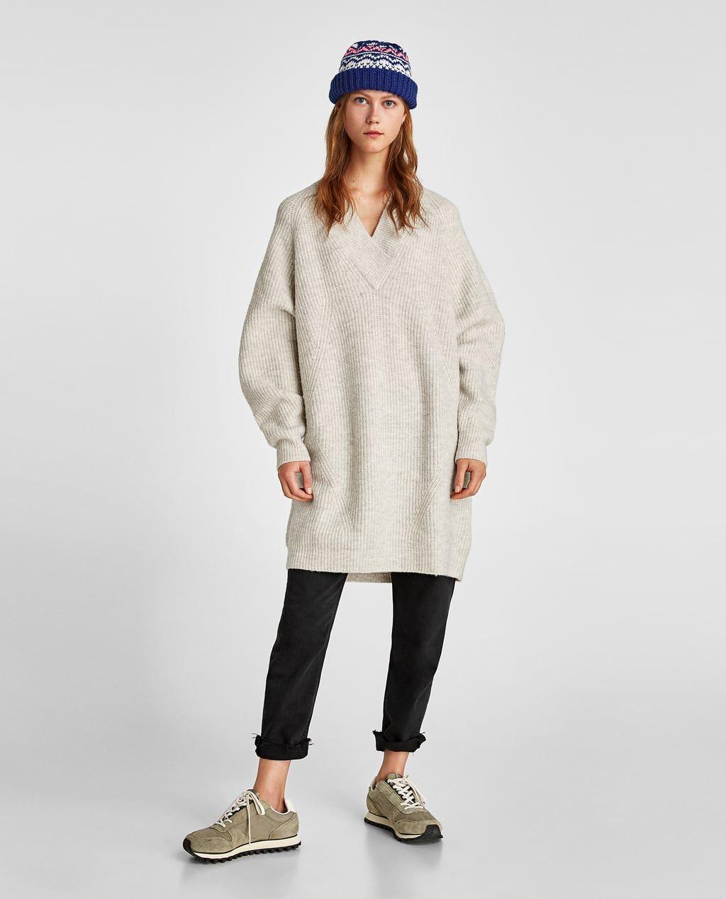 Image 1 De Robe Pull Oversize De Zara Avec Images Pull Oversize Robe Pull Robe