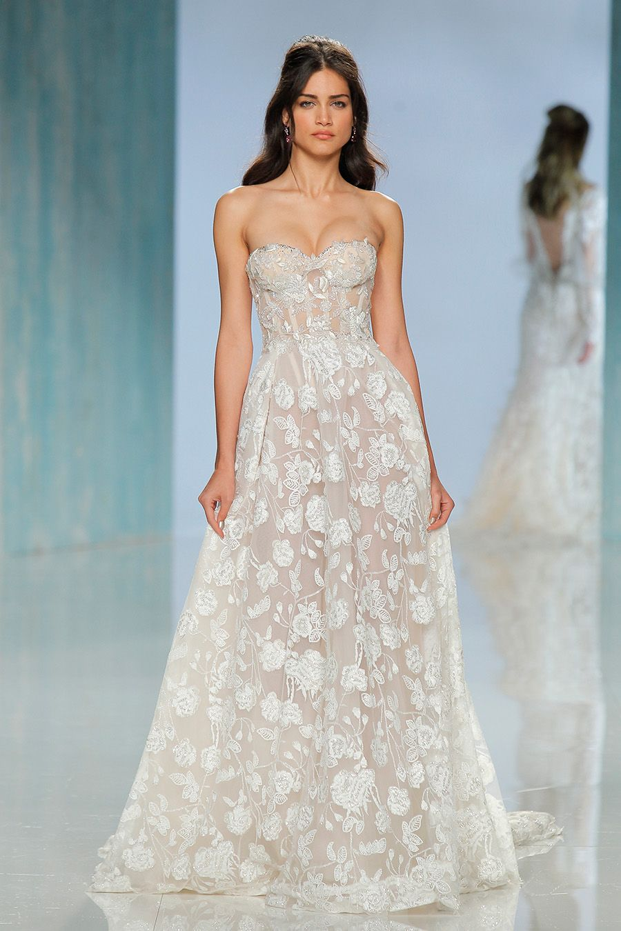 Barcelona bridal fashion week galia lahav sheer drapes