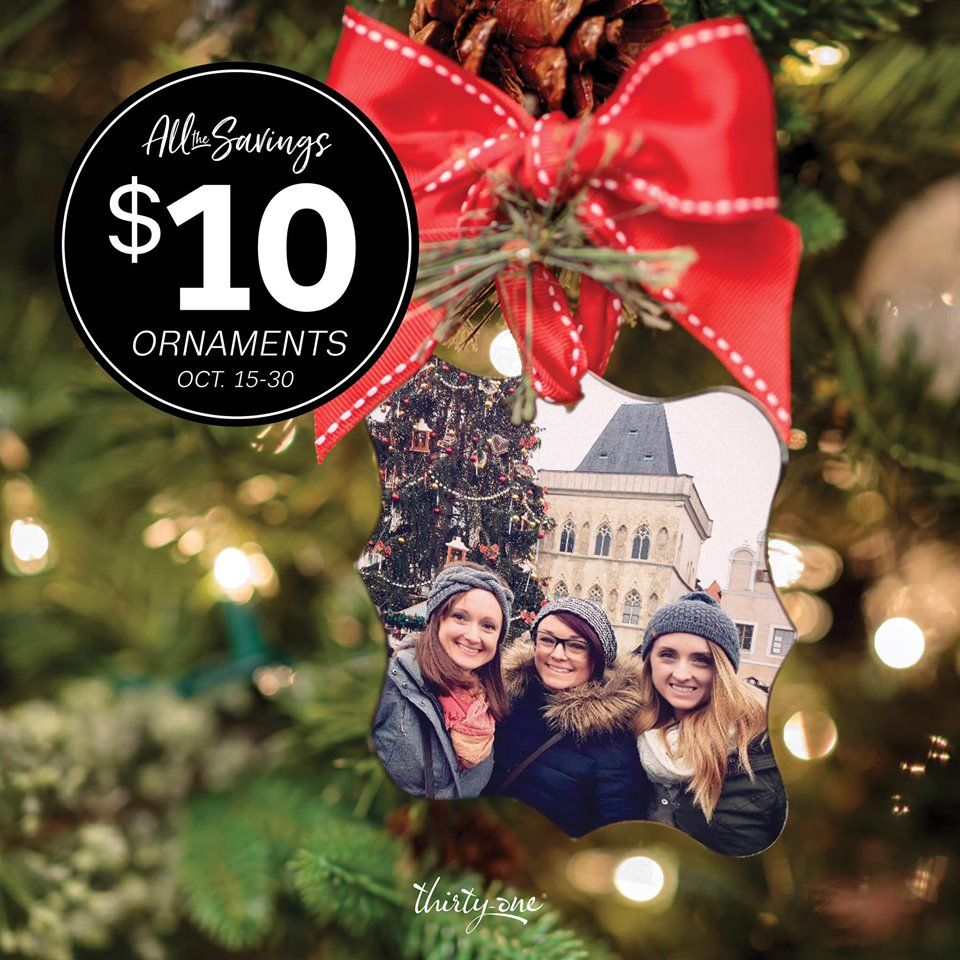 Photo Ornament Thirty One Gifts Photo Ornaments Christmas Photos