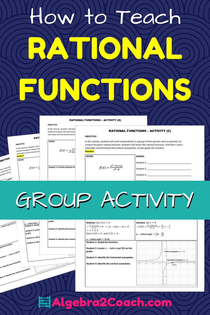 Rational Functions And Their Graphs Activity