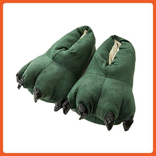 effa37fc06342 Mlotus Unisex Fuzzy Plush Bear Claw Slippers House Animal Paw Shoes ...