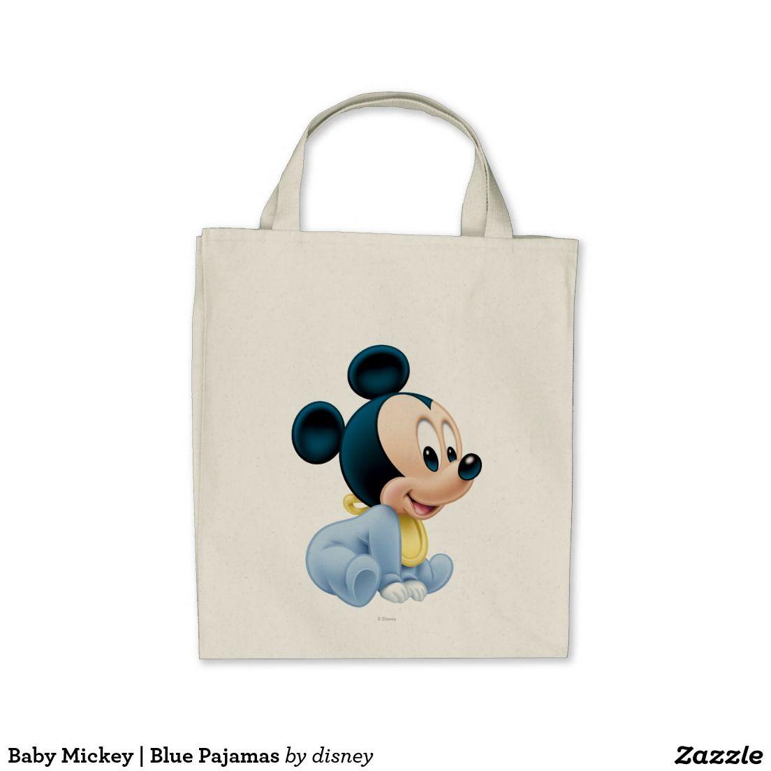 Baby Mickey | Blue Pajamas Tote Bag