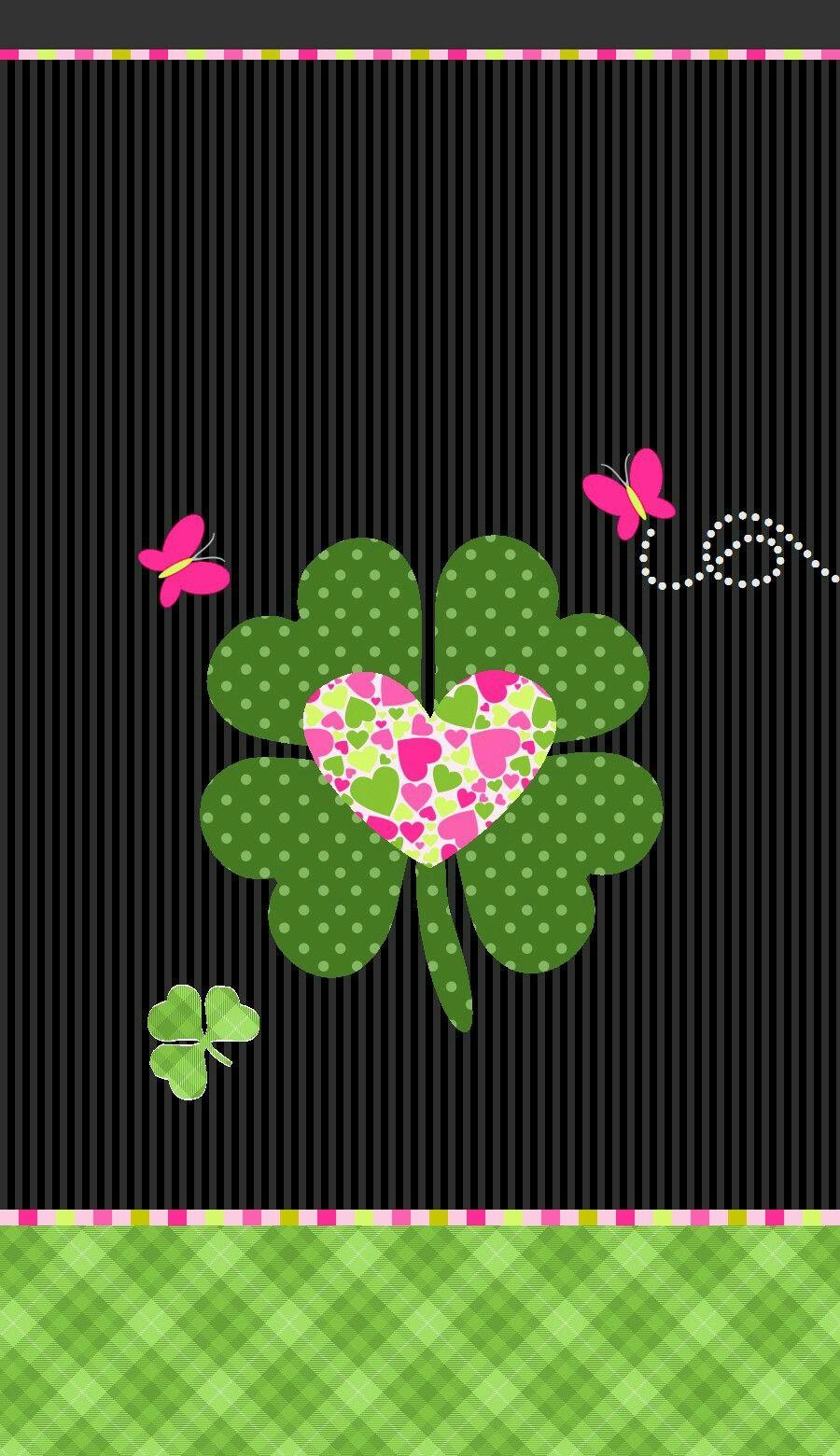 Shamrock 4 Leaf Clover Wallpaper St Patricks Day Wallpaper Iphone Wallpaper Cellphone Wallpaper